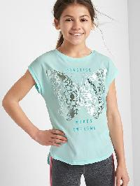 Gapfit Kids Graphic Cap Tee - Blue tint
