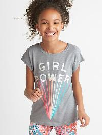 Gapfit Kids Graphic Cap Tee - Grey heather