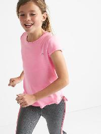 Gapfit Kids Breathe Crisscross Tee - Neon impulsive pink