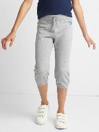 Gap Embellished Logo Crop Sweats - Grey heather