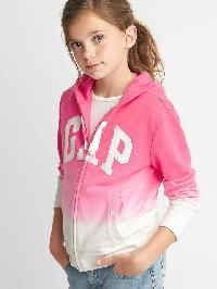 Gap Logo Dip Dye Zip Hoodie - Pink 244