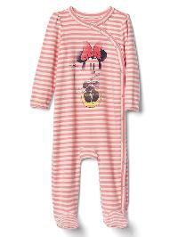Babygap &#124 Disney Baby Minnie Mouse Kimono Footed One Piece - Coral frost