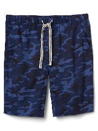 "Gap Poplin Print Sleep Shorts (10"") - Blue camo"