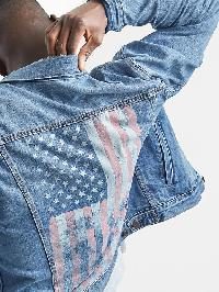 Gap American Flag Icon Denim Jacket - Medium indigo