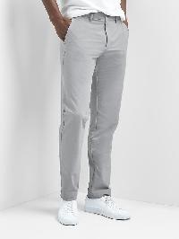 Gap Lightweight Slim Fit Performance Khakis - Light grey