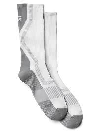 Gap Fit Performance Crew Socks - White 2