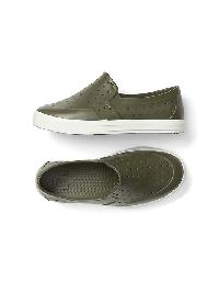 Gap Perforated Slip On Sneakers - Dark olive