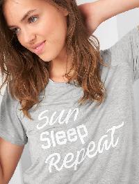 Gap Mix And Match Short Sleeve Sleep Shirt - Light heather grey v3