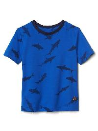 Gap Print Short Sleeve Tee - Brilliant blue