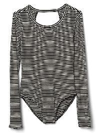 Gap Stripe Long Sleeve Bodysuit. - Black stripe