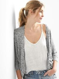 Gap Softspun Open Front Cardigan - Light grey marle