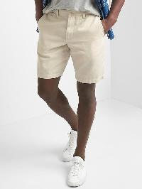 "Gap Cotton Linen Oxford Shorts (10"") - New stone"
