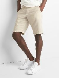 "Gap Cotton Linen Oxford Shorts (12"") - New stone"