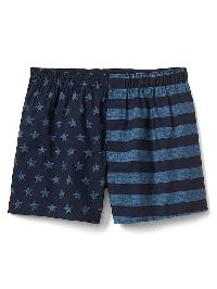 "Gap Poplin Print Boxers (4.5"") - Stars and stripes"