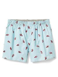 "Gap Poplin Print Boxers (4.5"") - Lobster"