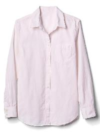 Gap New Fitted Boyfriend Oxford Shirt - New babe pink