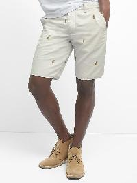 "Gap Embroidered Twill Shorts (10"") - Pineapple"
