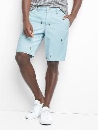 "Gap Embroidered Twill Shorts (10"") - Hula blue"