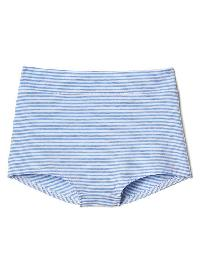 Gap Breathe High Waist Bikini - Preppy stripe blue