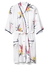 Gap Floral Print Tie Belt Robe - Summer orchid