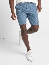 "Gap Hawaii Blueprint Twill Shorts (10"") - Light blue"