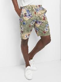 """Gap Floral Khaki Shorts (10"""") - Red/khaki floral"""