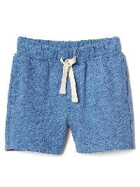Gap Pull On Slub Shorts - Blue heather
