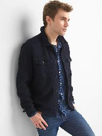 Gap Indigo Twill Shirt Jacket - Navy