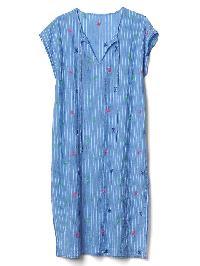 Gap Embroidery Stripe Caftan - Basic navy stripe
