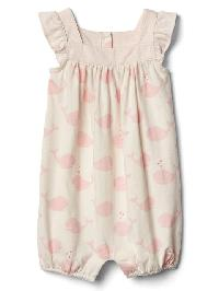 Gap Organic Whale Flutter Shorty One Piece - Pink cameo