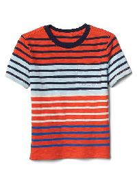 Gap Stripe Block Pocket Tee - New dark orange