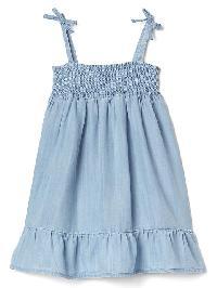 Gap Tencel Smock Dress - Medium wash