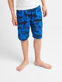 Gap Print Pj Shorts - Blue streak