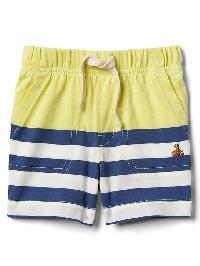 Gap Stripe Shorts - Colorblock fresh yellow & blue stripe