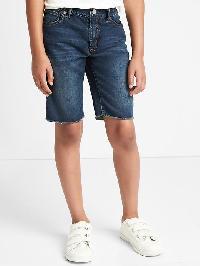 Gap Supersoft Denim Worker Shorts - Dark wash