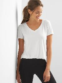 Gap Breathe V Neck Tee - Optic white