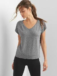 Gap Breathe Short Sleeve Raglan Tee - Heather grey