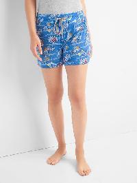 Gap Palm Print Sleep Shorts - Sunset palms tile blue