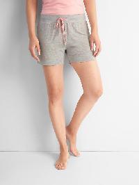 Gap Palm Print Sleep Shorts - Toss palm grey