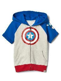 Babygap &#124 Marvel Captain America Hoodie - Gray heather