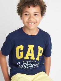 Gap Logo Short Sleeve Slub Tee - Elysian blue