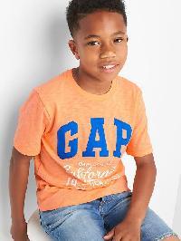 Gap Logo Short Sleeve Slub Tee - Icy orange