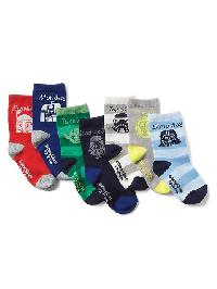 Babygap + Star Wars Days Of The Week Socks (7 Pairs) - Brilliant blue