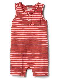 Gap Stripe Tank Shorty One Piece - Red heather