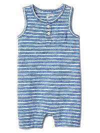 Gap Stripe Tank Shorty One Piece - Blue heather