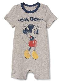 Babygap &#124 Disney Baby Mickey Mouse Shorty One Piece - Grey