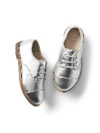 Gap Metallic Oxfords - Silver