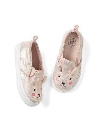 Gap Critter Slip On Sneaker - Pink bunny