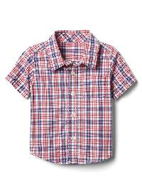 Gap Plaid Short Sleeve Shirt - Pepper red