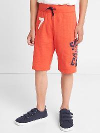 Gap Beachside Pull On Slub Shorts - Deep papaya